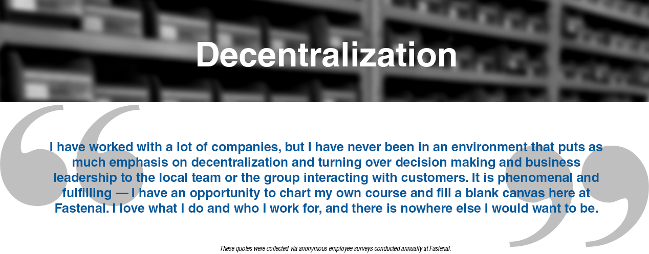 Testimonial: Decentralization
