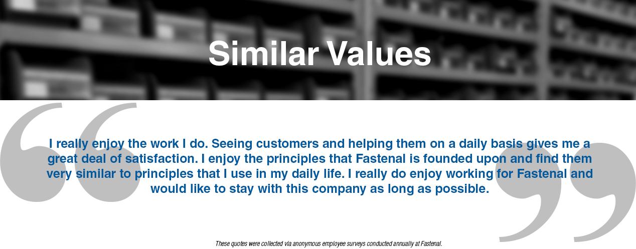 Testimonial: Values